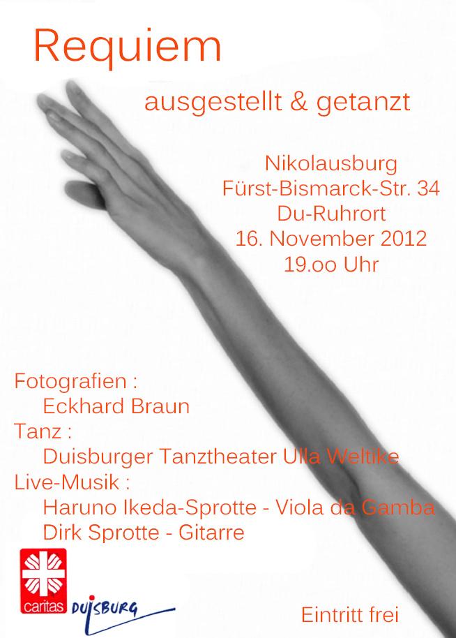 Plakat für Requiem 2012