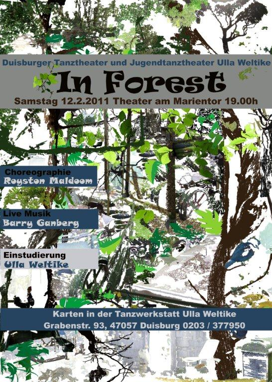 "Plakat der Tanztheaterperformance ""In Forest"""